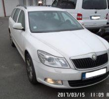 21.4.2017 Dražba automobilu Škoda Octavia Combi TDi, r. 2010. Vyvolávací cena 70.000 Kč.
