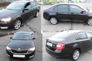 1.4.2017 Aukce automobilu Škoda Rapid 1,2 TSI, r. 2013, vyvolávací cena 210.000 Kč.