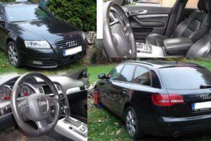27.4.2017 Dražba automobilu Audi A6 Avant 4×4, r. 2009. Vyvolávací cena 147.000 Kč.