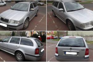 21.6.2017 Dražba automobilu Škoda Octavia Combi, r. 2010. Vyvolávací cena 40.000 Kč.
