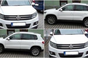 1.6.2017 Dražba automobilu VW Tiguan 4×4, r. 2013. Vyvolávací cena 240.000 Kč.