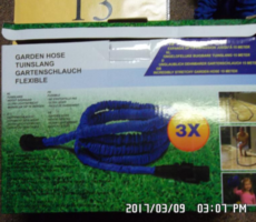 7.6.2017 Dražba souboru 34 ks krabic zahradní hadice. Vyvolávací cena 5.700 Kč.