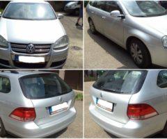 3.8.2017 Dražba automobilu VW Golf Variant, r. 2009. Vyvolávací cena 45.000 Kč.