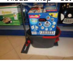 9.8.2017 Dražba mopu Vileda. Vyvolávací cena 530 Kč.