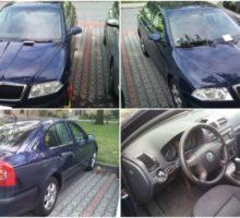 22.8.2017 Dražba automobilu Škoda Octavia 1Z. Vyvolávací cena 20.000 Kč.