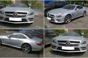 27.9.2017 Dražba automobilu Mercedes Benz SL 500. Vyvolávací cena 700.000 Kč.