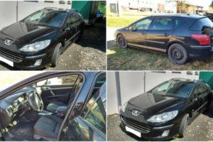 8.9.2017 Dražba automobilu Peugeot 407, r. 2008. Vyvolávací cena 25.000 Kč.