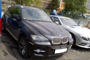 27.9.2017 Dražba automobilu BMW X6. Vyvolávací cena 300.000 Kč.