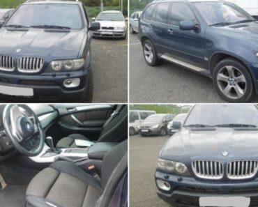 Proběhla dražba automobilu BMW X5. Byl vydražen za 152.000 Kč, odhadní cena 180.000 Kč.
