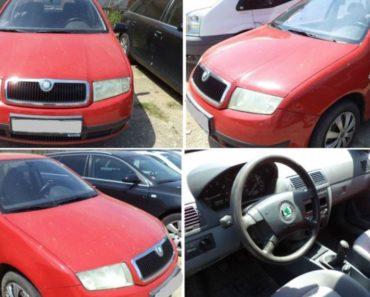 Byl vydražen automobil Škoda Fabia za 36.700 Kč. Odhadní cena 63.000 Kč.