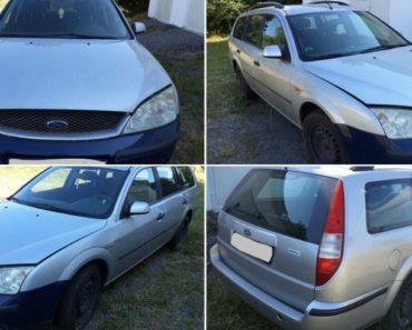 Automobil Ford Mondeo byl vydražen za 15.200 Kč. Odhadní cena vozidla 33.000 Kč.