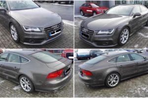 16.11.2017 Dražba automobilu Audi A7 Quattro 3.0 biTDI, r. 2012. Vyvolávací cena 790.000 Kč.