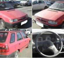 4.11.2017 Dražba automobilu Škoda Felicia Combi. Vyvolávací cena 2.000 Kč.
