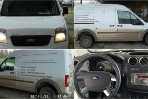 13.12.2017 Dražba automobilu Ford Transit, r. 2012. Vyvolávací cena 70.000 Kč.