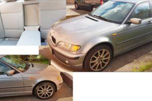 7.12.2017 Dražba automobilu BMW 318 D. Vyvolávací cena 25.000 Kč.