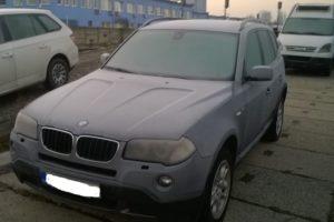 31.1.2018 Dražba automobilu BMW X3. Vyvolávací cena 40.000Kč.