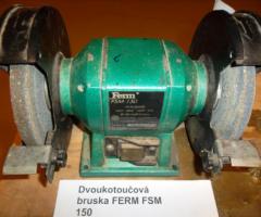 12.2.2018 Dražba dvoukotoučové brusky Ferm FSM 150W. Vyvolávací cena 200 Kč.