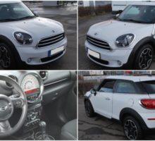 10.3.2018 Dražba automobilu Mini Cooper Paceman, r. 2013. Vyvolávací cena 170.000 Kč.