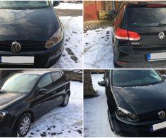 28.3.2018 Dražba automobilu VW Golf 1K, r. 2010. Vyvolávací cena 40.000 Kč.