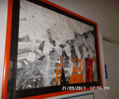 12.4.2018 Dražba obrazu – Zdeněk Tománek, kombinovaná technika. Sign. rok 1994. Vyvolávací cena 6.250 Kč.