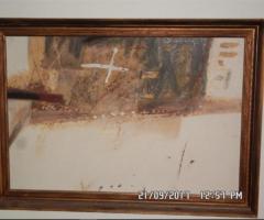 12.4.2018 Dražba obrazu – Slavoj Kovařík, kombinovaná technika. Sign. rok 1985. Vyvolávací cena 7.500 Kč.