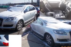 25.4.2018 Dražba automobilu Audi Q7. Vyvolávací cena 100.000 Kč.