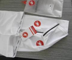 17.5.2018 Dražba cyklistických návleků na ruce – bílé. Vyvolávací cena 370 Kč.