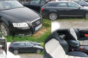 23.5.2018 Dražba automobilu AUDI A6 Avant. Vyvolávací cena 100.000 Kč.