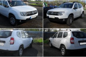 27.6.2018 Dražba automobilu Dacia Duster, r. 2016. Vyvolávací cena 90.000 Kč.