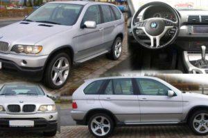 3.5.2018 Aukce automobilu BMW X5. Vyvolávací cena 35.000 Kč.