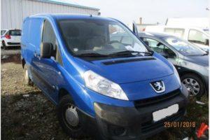 7.6.2018 Dražba automobilu Peugeot Expert 1,6 HDi VAN, r. 2012. Vyvolávací cena 71.000 Kč.