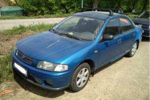 20.6.2018 Dražba automobilu Mazda 323, vyvolávací cena 5.000 Kč.