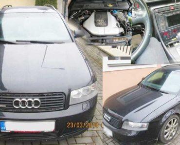 Automobil Audi A4 2,5 TDI 4x4 – odhadní cena 75.000 Kč. Vydražen za 40.000 Kč.
