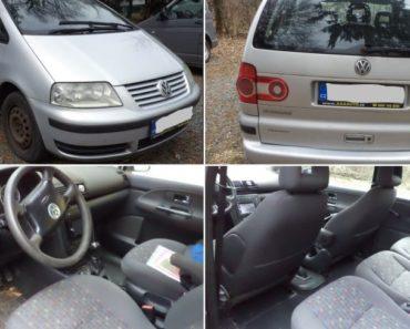 Automobil VW Sharan 1.9 TDI byl vydražen za 48.000 Kč. Odhadní cena 66.000 Kč.