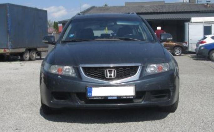 Automobil Honda Accord Tourer byl vydražen za 61.000 Kč. Odhadní cena 81.000 Kč.