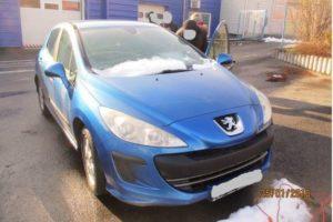 7.6.2018 Dražba automobilu Peugeot 308 SOME 48, r. 2008. Vyvolávací cena 26.000 Kč.