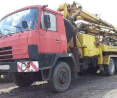 3.7.2018 Aukce nákladního automobilu Tatra T 815 /betonpumpa/. Vyvolávací cena 249.000 Kč.