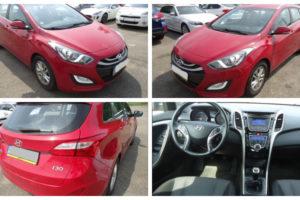 Do 25.6.2018 Aukce automobilu Hyundai i30WG 1.6 CRDI VGT, r. 2014. Vyvolávací cena 180.000 Kč.