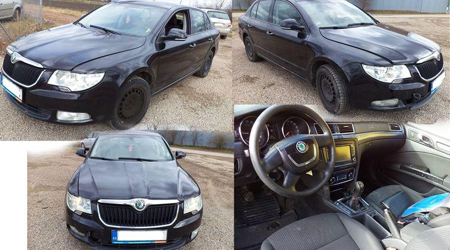 Automobil Škoda Superb byl vydražen za 80.700 Kč. Odhadní cena 105.000 Kč.