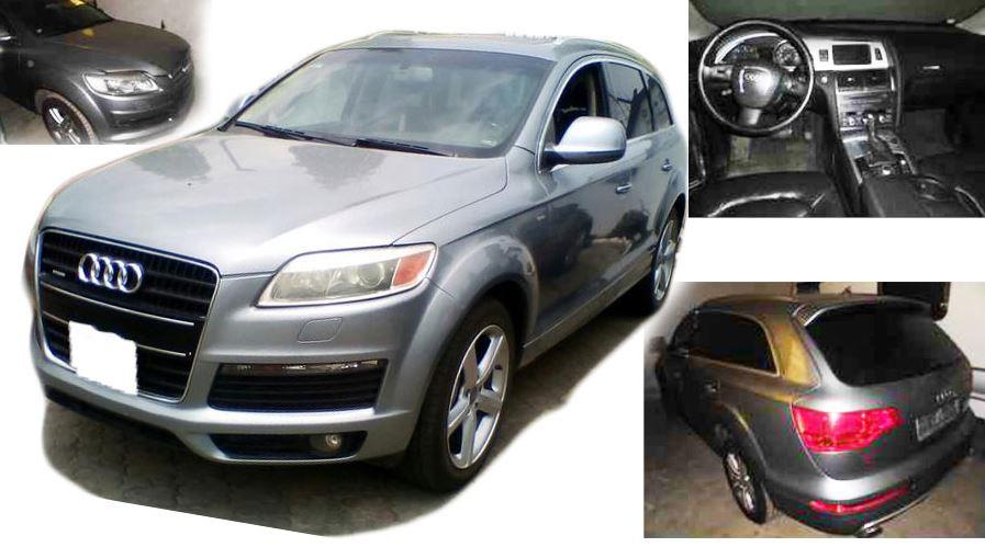 Automobil Audi Q7 Kombi – odhadní cena 300.000 Kč. Vydražen za 180.000 Kč.