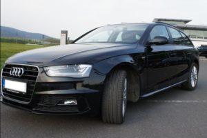 17.7.2018 Aukce automobilu Audi A4 Avant S-line. Vyvolávací cena 479.000 Kč.