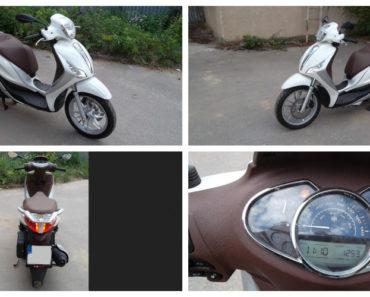 29.8.2018 Dražba motocyklu Piaggio Medley. Vyvolávací cena 26.000 Kč.