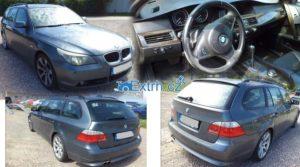 27.9.2018 Dražba automobilu BMW525 D 560L. Vyvolávací cena 60.500 Kč.