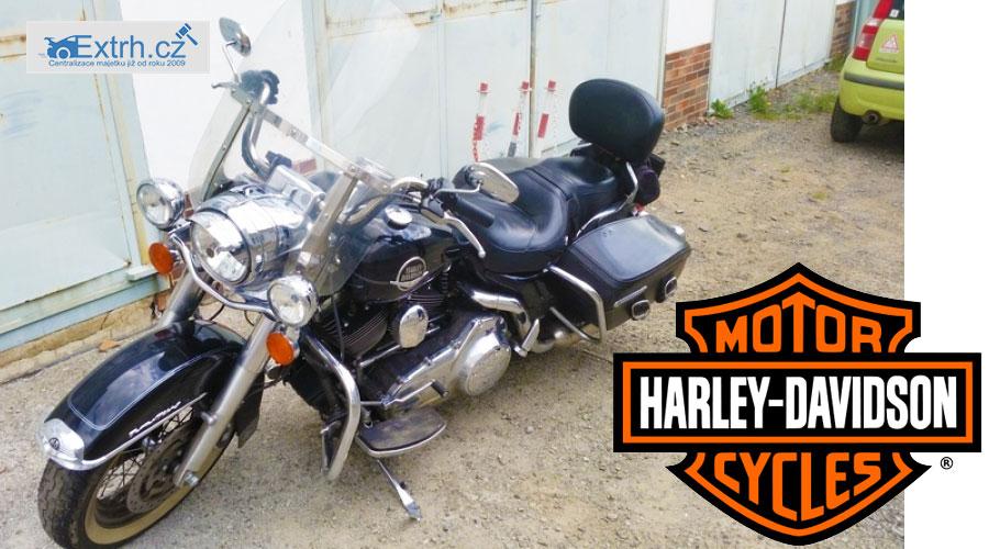 35f959386 23.8.2018 Dražba motocyklu Harley Davidson. Vyvolávací cena 100.100 Kč.