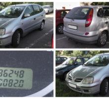 22.8.2018 Dražba automobilu Nissan Almera Tino 1,8. Vyvolávací cena 16.000 Kč.