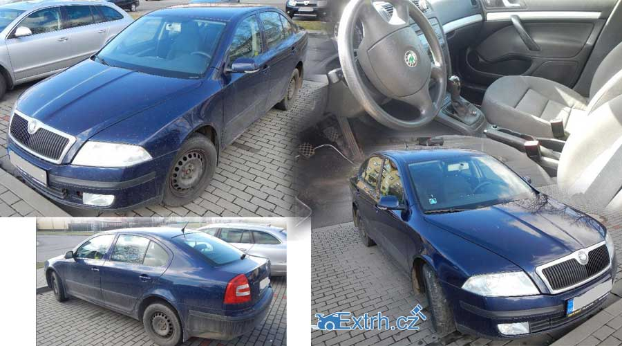 Dražba auta Škoda Octavia II 1.6. Auto vydraženo za vyvolávací cenu 38.000 Kč
