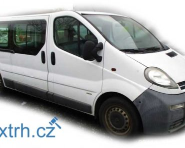23.8.2018 Dražba automobilu Opel Vivaro + příslušenství. Vyvolávací cena 18.600 Kč.