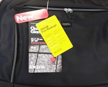 11.9.2018 Dražba velké brašny na notebook Dicota Gigant- 200 kusů. Vyvolávací cena 20.300 Kč.