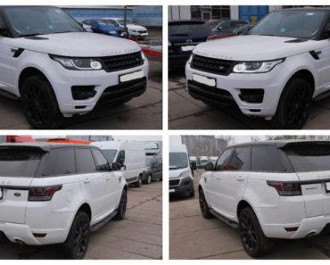 8.9.2018 Dražba automobilu Land Rover Range. Vyvolávací cena 1.100.000 Kč.