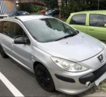 10.10.2018 Dražba osobního automobilu Peugeot 307. Vyvolávací cena 5.000 Kč.